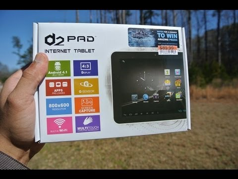 D2 Pad Android 4.1 Jelly Bean Tablet from Big Lots