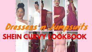 Shein Formal Curvy Lookbook//dressess//jumpsuits