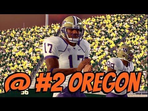 NCAA Football 13 - Pac 12 Online Dynasty: Week 6: #22 Washington @ #2 Oregon