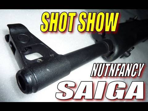 Nutnfancy SHOT Show:  SAIGA Rifles and Shotguns