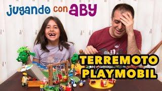 Terremoto en el parque Playmobil