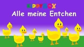 Kinderlieder Zum Mitsingen - Alle Meine Entchen (KIDDYBOX.TV)