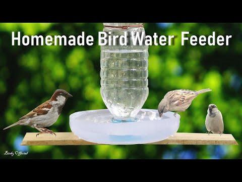 How To Make A Bird Water Feeder | DIY Homemade Plastic Bottle Bird Water Feeder