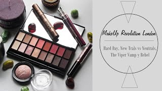 Compras MakeUp Revolution London: Hard Day, New-Trals vs Neutrals, The Viper, Vamp y Rebel | Asami
