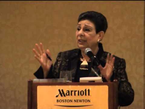 Coverage of Hanan Ashrawi's speech at the  Palestinian Children's Relief Fund fundraising gala