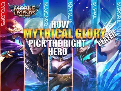 How Mythical Glory Player Pick The Right Hero - Mobile legends - Guide - Tips - Giveaway