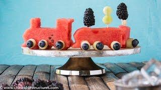 Fruit Salad Recipe: Fun Watermelon Fruit Train