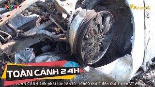 Ô tô 7 chỗ lao xuống vực ở Lào Cai, bốc cháy dữ dội   Toàn cảnh 24h