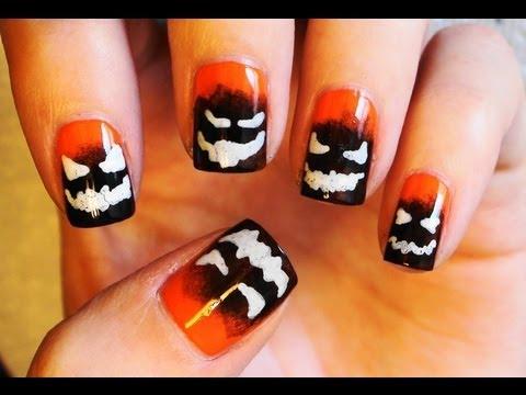 Evil Pumpkin Nails