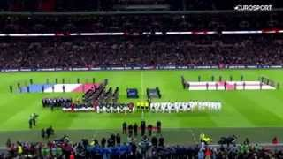 The crowd sang the Marseillaise - England vs France (17/11/2015)