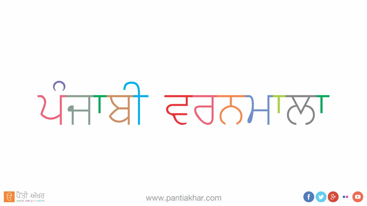 Punjabi Alphabet - YouTube