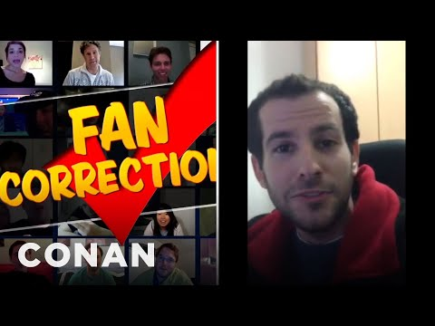 Fan Correction: Andy's Dreidel Was In The Wrong Order!  - CONAN on TBS