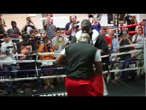 Floyd Mayweather Jr vs Robert Guerrero Mayweather training highlight video