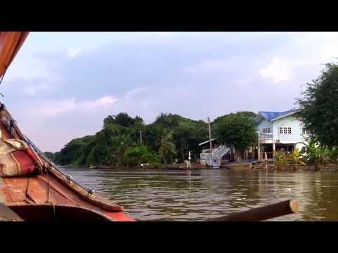 Beautifull Trip With A Longtrail-Boat On Chao Phraya River Ayutthaya