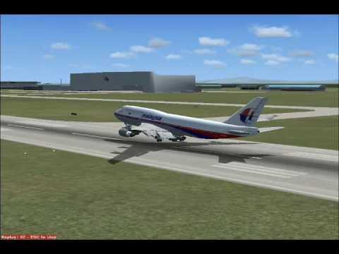 Flight Simulator:X Malaysia Airlines Boeing 747-400 Landing In Kuala Lumpur Intl