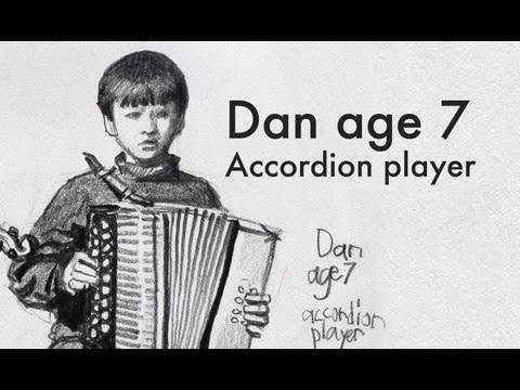 Dan Age 7 Accordion Player