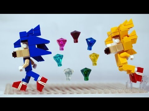 Build Lego Sonic The Hedgehog, Chaos Emeralds & Super Sonic video