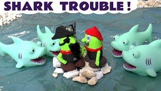 Funny Funlings Shark Trouble for PIrates with Thomas The Tank Engine toy story for kids TT4U