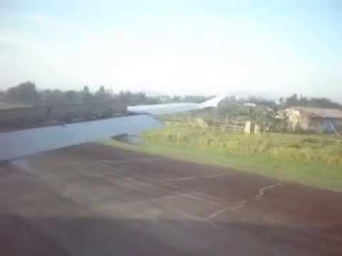 PAL Landing On Roxas City Airport, Philippines
