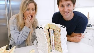 Baking a BOOK in a CAKE with Josh Sundquist!!! 📚🎂 | iJustine