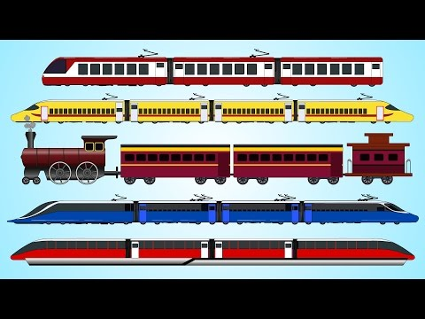 Learning Train For Children | Railway Vehicles | Fun and Educational Learning Videos