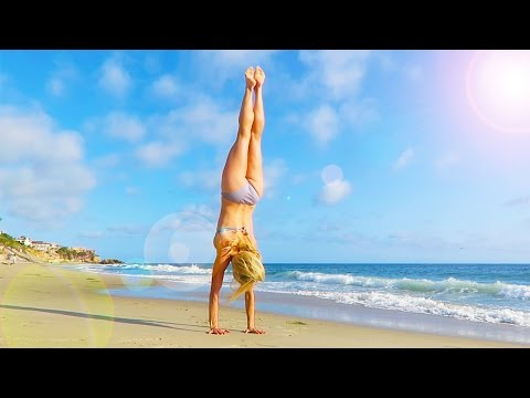 TRYING GYMNASTICS CHALLENGE ON THE BEACH! DAY 137