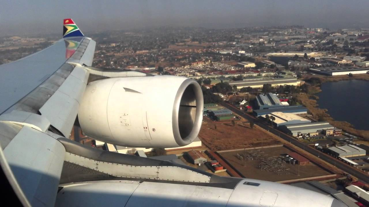 A340 South African Airways landing in Johannesburg - YouTube