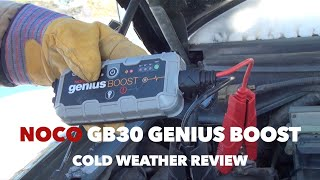 NOCO Genius Boost GB30 Jump Starter - Cold Weather Review