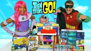 Teen Titans Go Toy Challenge - Starfire Vs Robin !  || Toy Review || Konas2002