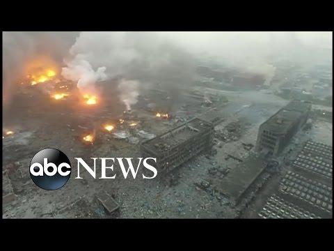 Urgent Search for Survivors After Powerful Deadly Explosions in China