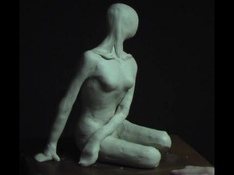Sculpting a female in a Sitting Pose _ part-1
