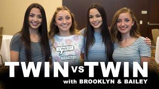TWIN vs TWIN CHALLENGE | ft. Brooklyn & Bailey