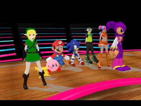 (MMD) Nintendo and Sega dance Cha cha slide