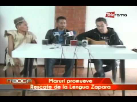 Maruri promueve rescate de la lengua Zapara