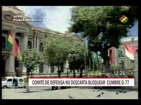 27/11/2014 - 14:14 COMITÉ DE DEFENSA NO DESCARTA BLOQUEAR  CUMBRE G 77