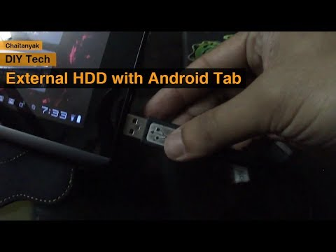 Accessing a Hard Drive with an android tab