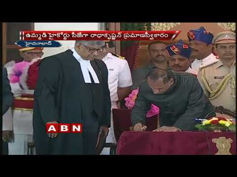 Justice Radhakrishnan Takes Oath As New CJ Of Hyderabad Hc