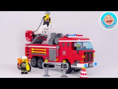 Пожарная машинка -  профессия пожарный.  Видео для детей