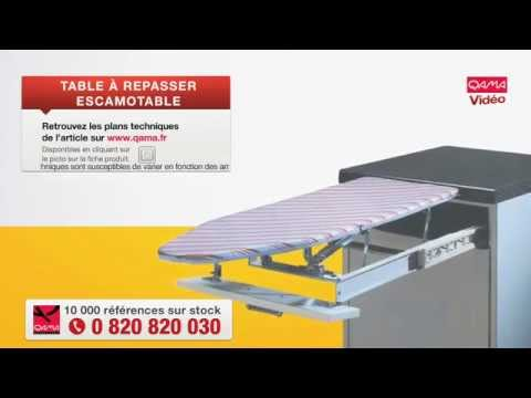 Table repasser escamotable par qama youtube for Table de cuisine retractable