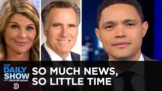 So Much News, So Little Time: Celeb Bribegate, Buzzkill Pelosi & Robotic Romney | The Daily Show