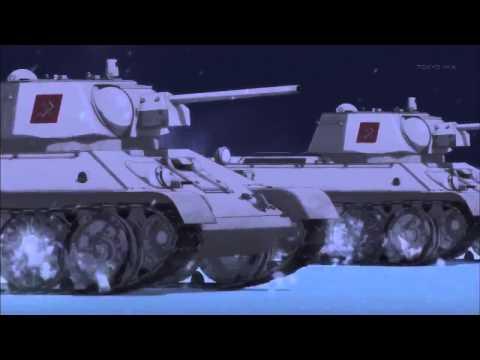Японские школьницы на танках поют  Катюшу