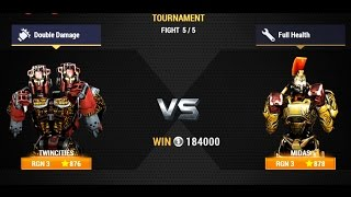 Real Steel Champions | FINAL TOURNAMENT | Twin Cities VS Midas (Champion) NEW ROBOTS GAME