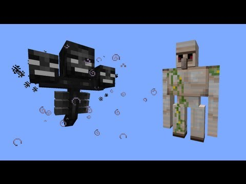 Minecraft - Fight - Iron Golem VS  Wither Boss