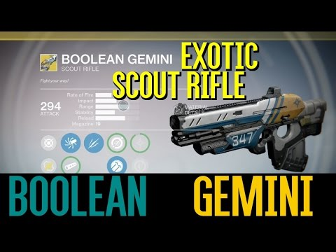 "Destiny: The Taken Kind - We Found the ""Boolean Gemini"" Exotic Scout Rifle"