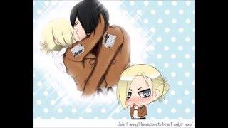 Mikasa x Annie I kissed a girl