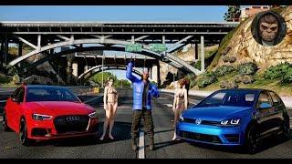 GTA 6 - Photorealistic Graphics   Audi RS3 vs Golf R   NaturalVision ✪ Remastered PC 60FPS GTA V MOD
