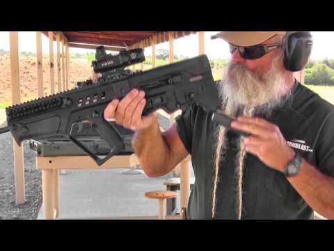 Shooting the IWI Tavor 5.56x45mm Semi-Automatic Bullpup Carbine - Gunblast.com