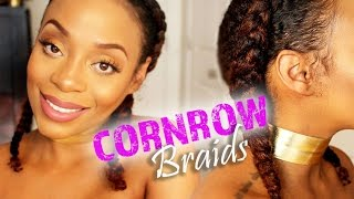 GET THE LOOK | Elongated Double Cornrows Using ORS Curls Unleashed + GIVEAWAY!