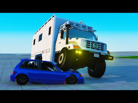 ETK 6000 SERIES CRASH TESTING! - BeamNG Drive 6000 Series Car Mod (Crashes and Funny Moments)
