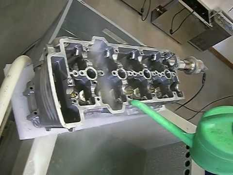 Ultrasonic homogenization of a BMW engine block using 3D uniformly waved ultrasound